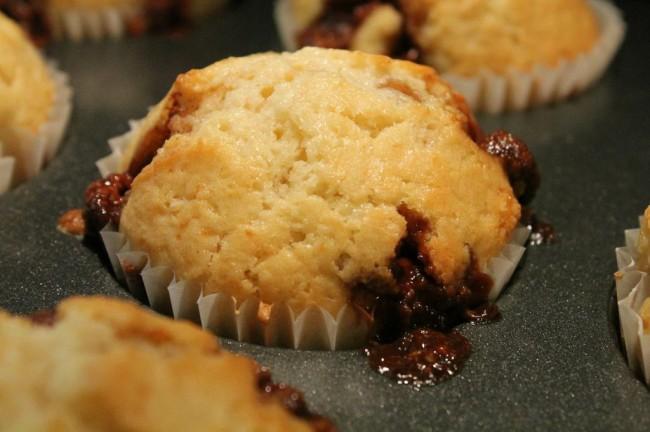 Milka Daim csokis, karamellás muffin
