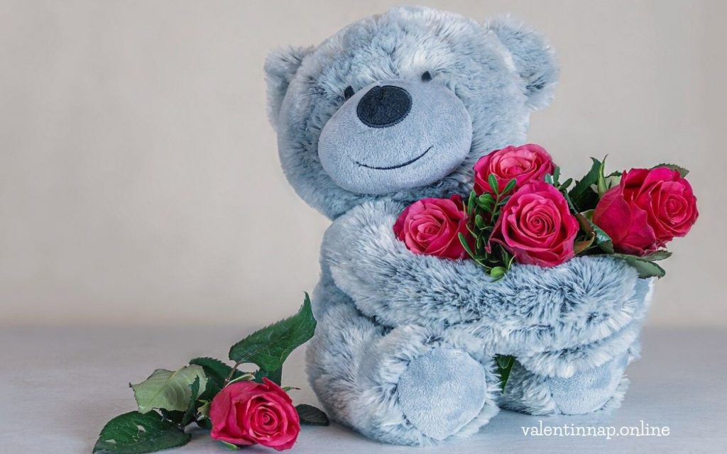 Valentin-napi virág, ajándék
